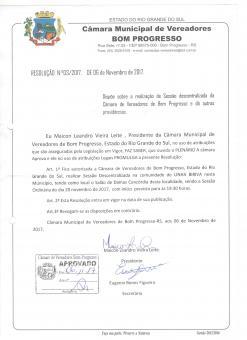 PODER LEGISLATIVO -SESSÃO ORDINÁRIA DESCENTRALIZAD