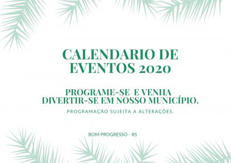 CALENDARIO DE EVENTOS 2020